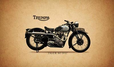 Triumph Tiger 80 Art Print