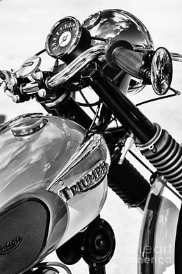 60s Photograph - Triumph Tiger Monochrome by Tim Gainey