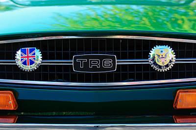 Photograph - Triumph Tr 6 Grille Emblem by Jill Reger