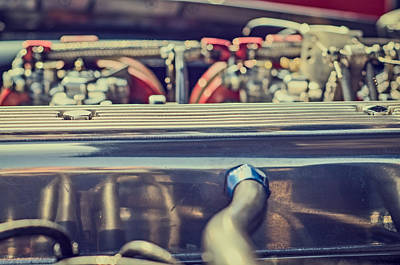 Photograph - Triumph Tr4 Engine by Spikey Mouse Photography