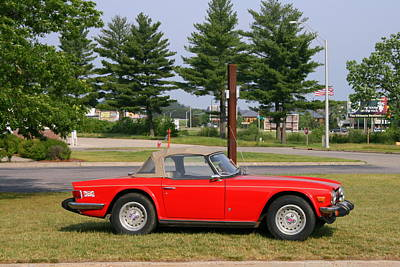 Photograph - Triumph Tr6 by Kay Novy