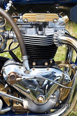 Photograph - Triumph Trophy Engine by Tim Gainey