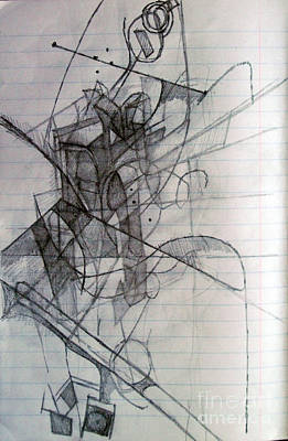 Creativity Drawing - Triumph Without Pride 1 by David Baruch Wolk