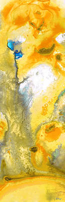 Triumph - Yellow Abstract Art By Sharon Cummings Art Print by Sharon Cummings