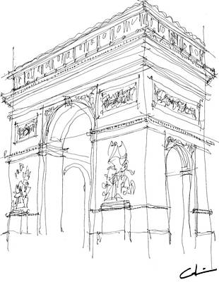 Drawing - Triumphal Arch Sketch by Calvin Durham