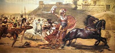 Painting - Triumphant Achilles by Franz von Matsch