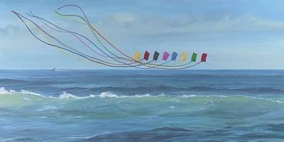 Stunt Flyer Painting - Trlbys At Sea by Carol Thompson