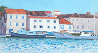 Croatia Painting - Trogir Croatia by Jan Matson