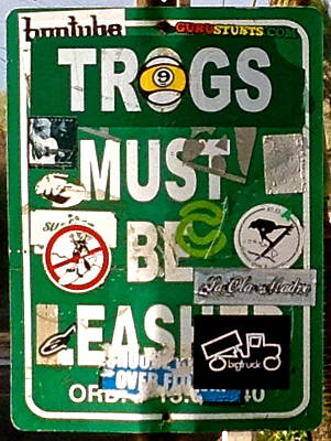 Photograph - Trogs Must Be Leashed by Jeff Gater