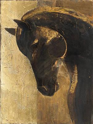 Trojan Horse II Gold Art Print