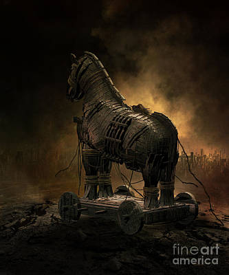 Digital Art - Trojan Horse by Shanina Conway