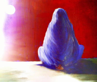 Ability Painting - I'm Always Sitting Alone Under The Full Moon  by Hilde Widerberg