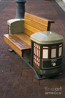 Photograph - Trolley Bench by Steven Parker