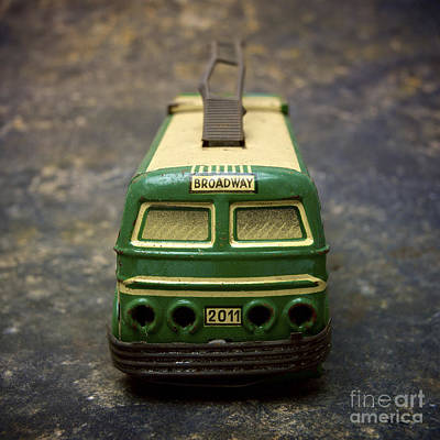 Trolley Bus Toy Art Print by Bernard Jaubert