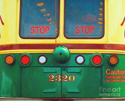 Trolley Car - Digital Art Art Print