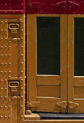 Rivets Photograph - Trolley Doors by Murray Bloom
