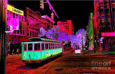 Trolley Night Art Print