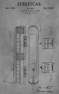 Trolley Patent Art Print by Dan Sproul