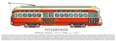 Trolley Pittsburgh Circa 1949 Art Print
