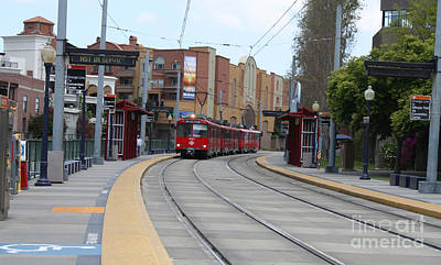 Photograph - Trolley Pulling Into Station by John Telfer