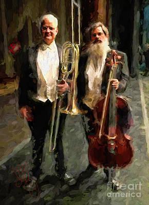 Trombone And Chello Art Print