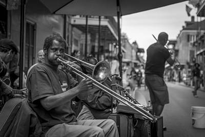 Trombone In New Orleans 2 Art Print