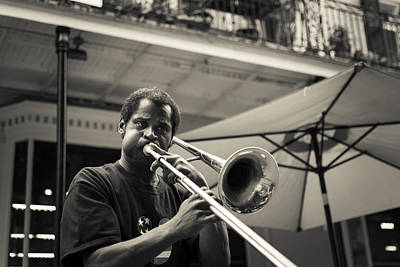 Fun Show Photograph - Trombone In New Orleans by David Morefield
