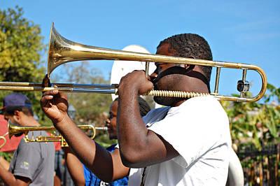 Trombone Man Art Print by Steve Harrington