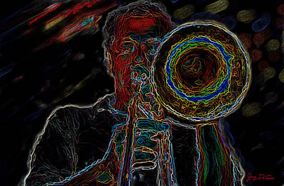 Trombone Player Art Print