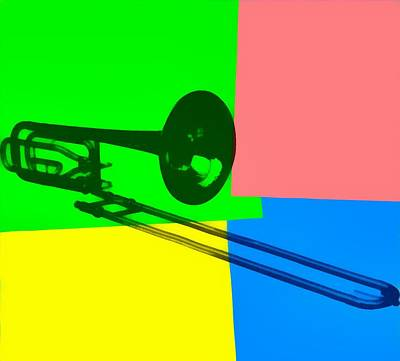 Royalty-Free and Rights-Managed Images - Trombone Pop Art by Dan Sproul