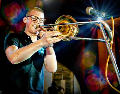 Photograph - Trombone Solo by Ian Gledhill