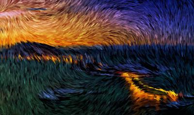 Tromso Norway By Night Art Print by Mario Carini