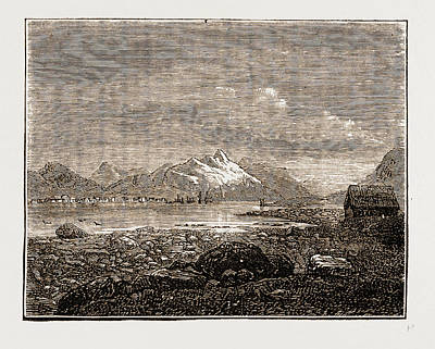 Tromsoe, Norway Engraving 1873 Art Print by Litz Collection