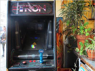 Tron Photograph - Tron Arcade Machine - Enhanced Color by David Lovins