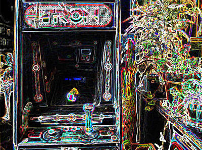 Tron Photograph - Tron Arcade Machine - Neon Enhanced by David Lovins