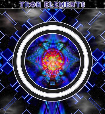 Tron Elements Art Print