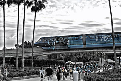 Tron Monorail Wdw In Sc Art Print by Thomas Woolworth