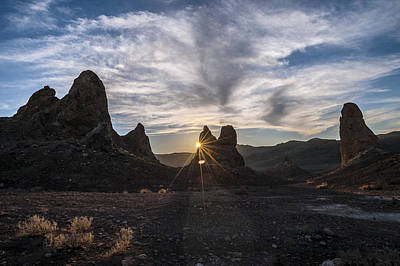 Photograph - Trona Sunburst by Cat Connor