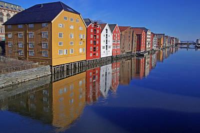 Trondheim At Morning Art Print by Reinhard Pantke
