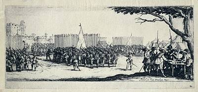 Troop Recruitment. Engraving From The Art Print by Everett