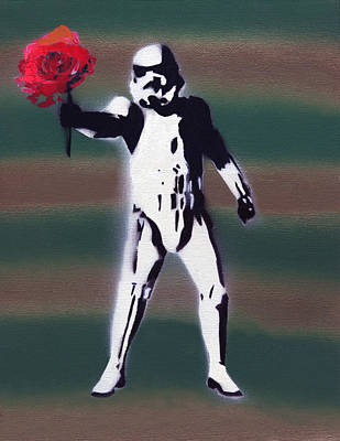 Storm Trooper Painting - Are You The Droid I've Been Looking For? by Jezebel X