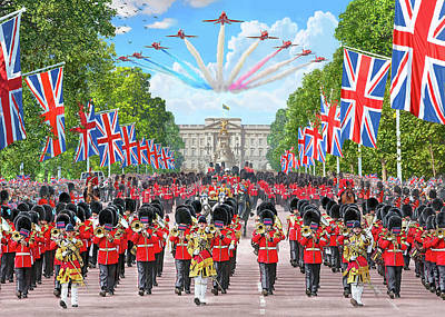 Buckingham Palace Painting - Trooping The Colour - Colonel's Review by Steve Crisp