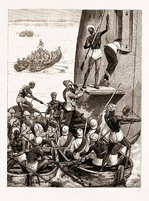 Troops Of The 43rd Regiment Embarking At Cannanore To Meet Print by Litz Collection
