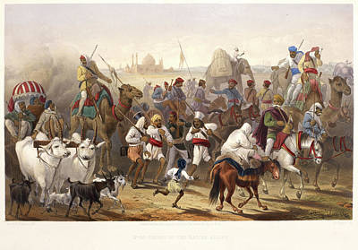 Troops Of The Native Allies Art Print by British Library