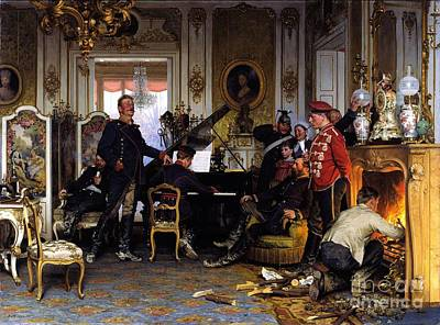 Franco-prussian War Painting - Troops Quarters Outside Paris by Pg Reproductions