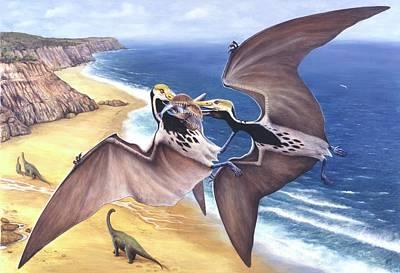 Flying Dinosaur Photograph - Tropeognathus Pterosaur by Deagostini/uig