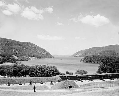 Trophy Point North Fro West Point In Black And White Art Print