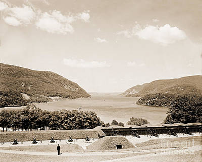 Trophy Point North Fro West Point In Sepia Tone Art Print