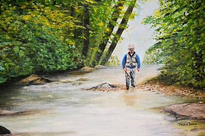 Painting - Trophy Stream by Debbie Baker