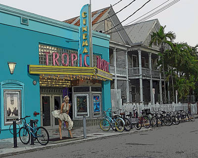 Photograph - Tropic Cinema Marilyn Monroe Key West by Rebecca Korpita